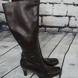 Franco Sarto • Tall Brown Vegan Leather Boots 9M
